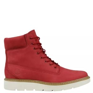 TIMBERLANDS RUBY RED KENNISTON 6-INCH LACE-UP BOOT